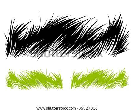 Hand-drawn grass. Vector illustration.