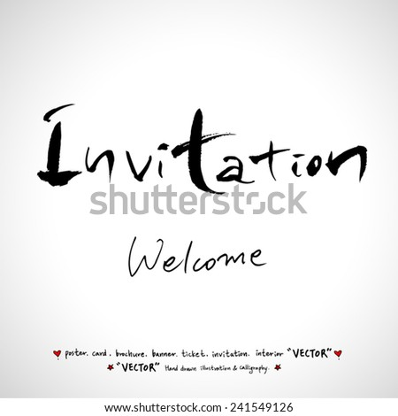 Hand drawn greeting /  vector - calligraphy - stock vector