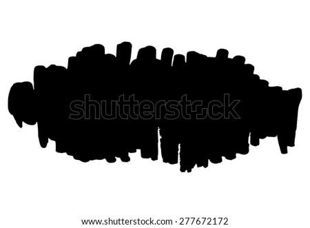 Hand drawn grunge background vertical strokes element - stock vector