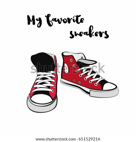 converse shoes clipart. hand drawn illustration with shoes. hipster sneakers in graphic for logo, poster converse shoes clipart