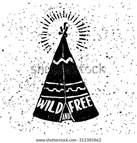 Hand drawn Indians tent doodle  sc 1 st  Shutterstock & Hand Drawn Indians Tent Doodle Stock Vector 312385862 - Shutterstock