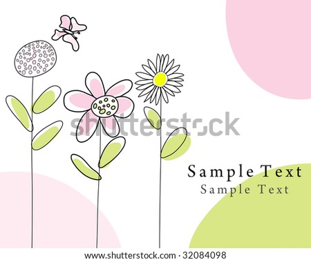 Hand drawn infant card for design use - stock vector