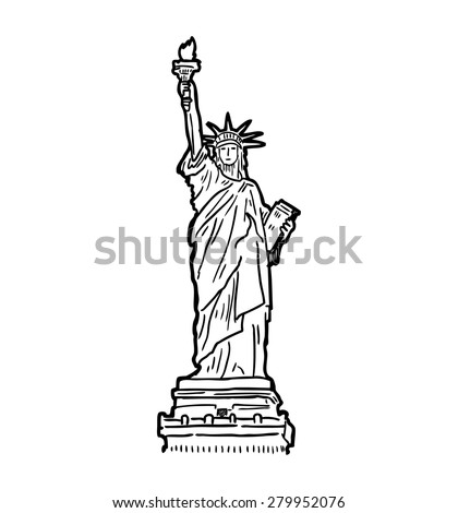 statue of liberty drawing template - statue liberty vector stock vector 45460375 shutterstock