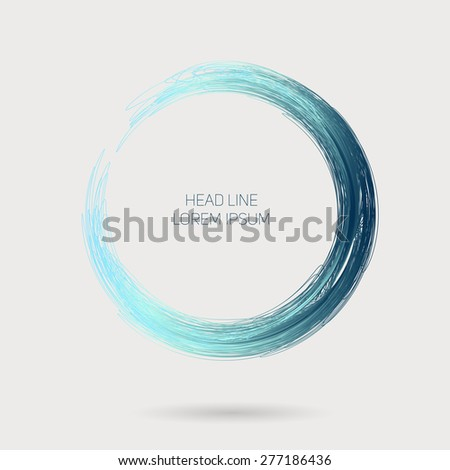 Hand drawn line circle, with place for your text. - stock vector
