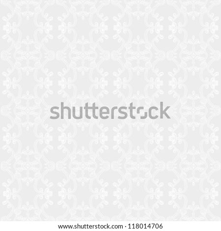 hand drawn linear pattern with restrained colors, website background or holiday wrapping paper or elegant wedding invitation background, seamless vector in baroque and rococo style with damask motifs - stock vector