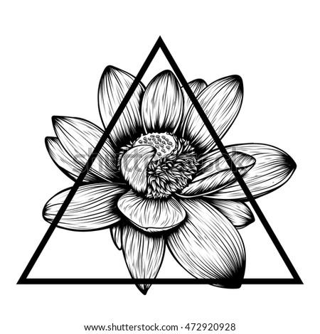 Hand drawn lotus flower tshirt tattoo stock vector 472920928 hand drawn lotus flower t shirt tattoo design element bouquet concept art mightylinksfo