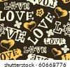 hand drawn love pattern - stock vector