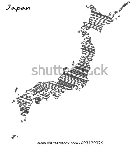Japan Map Stock Images RoyaltyFree Images Vectors Shutterstock - Japan map sketch