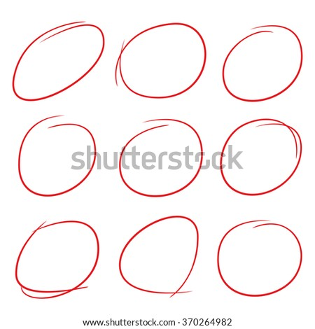 Red Circle Highlighting Text Stock Vector 426782251 ...