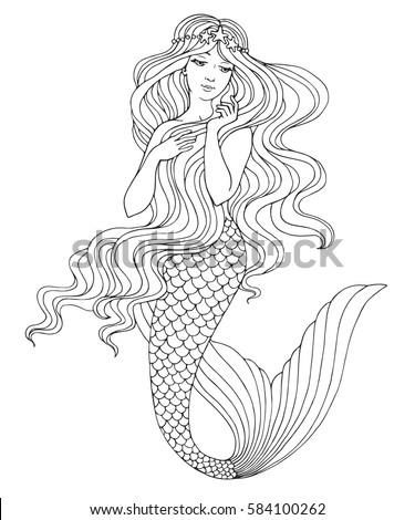 Mermaid Stock Images, ... Fantasy Mermaids On Rocks