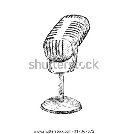 hand drawn microphone