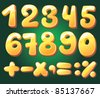 Hand drawn numerals - stock photo