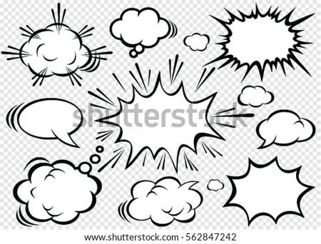 hand drawn comic bubbles speech comicのベクター画像素材 562847242