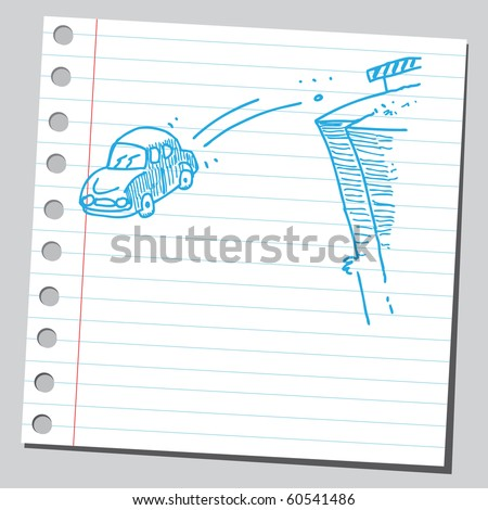 Hand drawn of road concept - stock vector