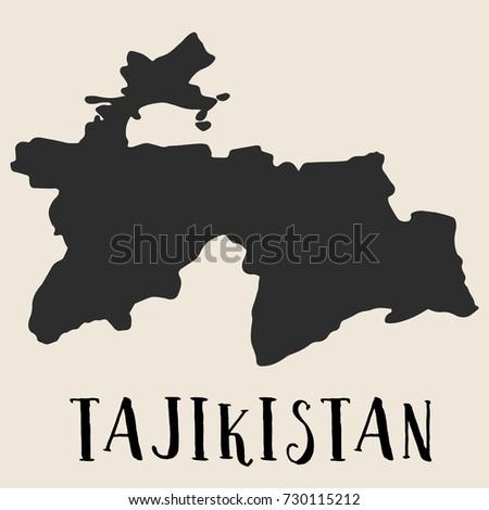 Hand Drawn Tajikistan Map Vector Illustration Stock Vector - Tajikistan map vector