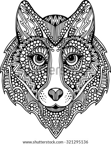 Tribal Dog Stock Vectors Amp Vector Clip Art