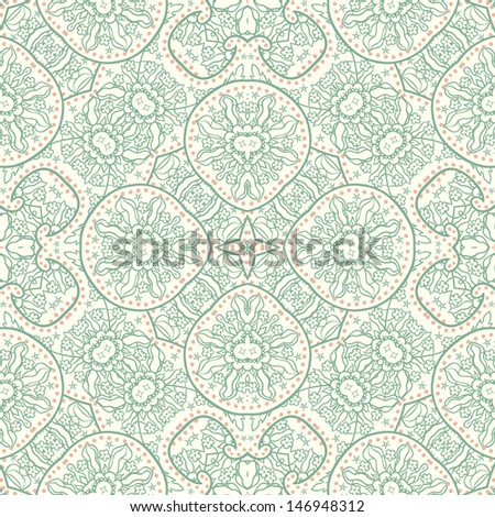Hand-Drawn paisley abstract pattern. Vector illustration.