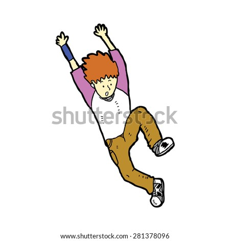 hand drawn parkour  - stock vector