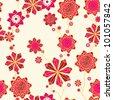 Hand drawn pattern flower - stock vector