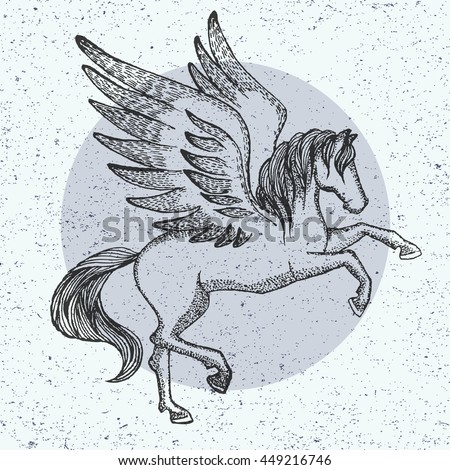 how to draw a pegasus flying