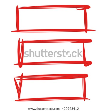 hand drawn rectangle frame, rectangle highlighter