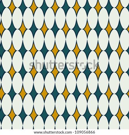 Hand drawn rhombus seamless pattern. Vector background. - stock vector