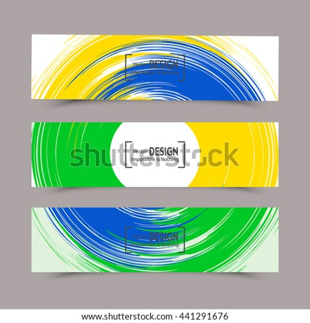 Hand drawn Rio 2016 olympic games banner with brazilian flag. XXXI 31 st Olympic games event in Brazil from 5 th august till 21 st august 2016. Vector flat design illustration clip art graphic design - stock vector
