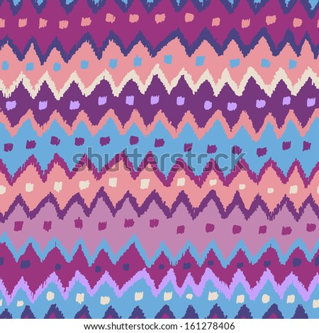 Hand drawn seamless pattern in clear winter tones. Endless tribal background - stock vector