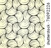 Hand drawn seamless shell pattern. Vector background. - stock photo