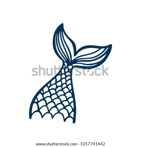 hand drawn silhouette mermaids tail vector stock vector royalty rh shutterstock com royalty free graphics of dogs cats people royalty free graphics food crisis