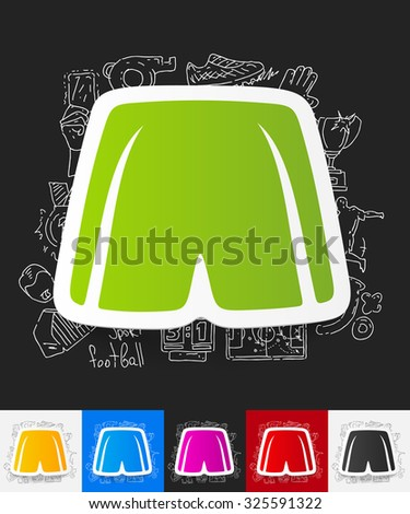 hand drawn simple elements with shorts paper sticker shadow