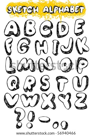 Hand Drawn sketch alphabet