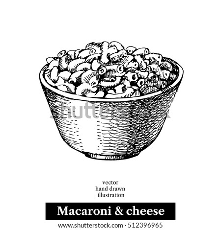 mac and cheese coloring pages | Hand Drawn Sketch Homemade Macaroni Cheese Stock Vector ...