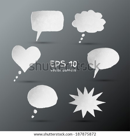 Hand drawn speech bubbles. EPS 10. Isolated. - stock vector