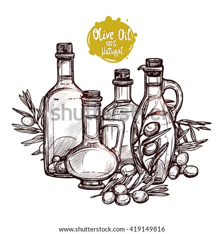 Illustration Sunflower Oils Sunflower Doodle Style Stock Vector 134015900 - Shutterstock