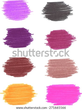 Hand drawn textures. Freehand drawing elements. Vector illustration. - stock vector
