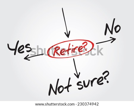 Hand drawn The risk to take the retirement vector concept, diagram, chart - stock vector