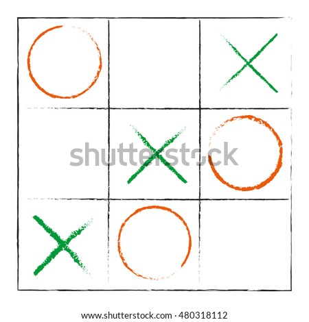 Hand Drawn Tic-Tac-Toe Elements Game