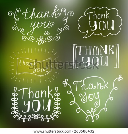 Hand drawn typography on blurred background - stock vector