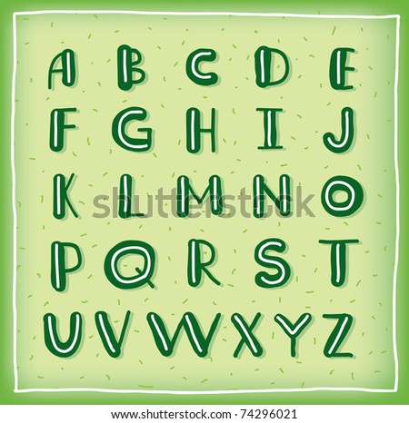 Hand drawn vector ABC letters - stock vector