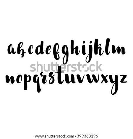 Hand drawn vector alphabet. Easy to use and edit. Made with ink. - stock vector