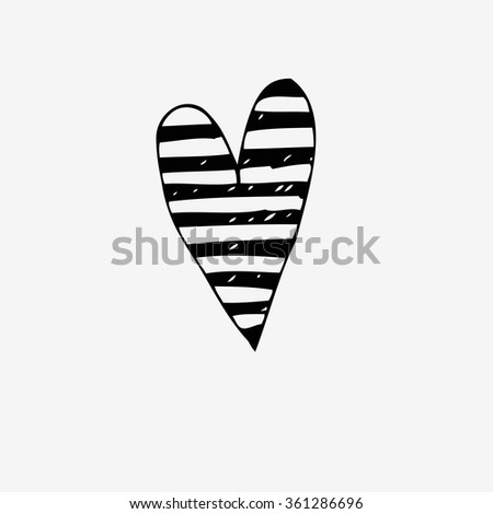 Hand drawn vector doodle heart.  Element for design and decorations. - stock vector