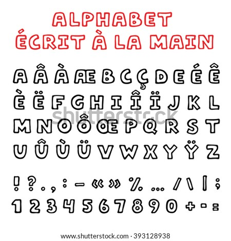 how to write french alphabet letters