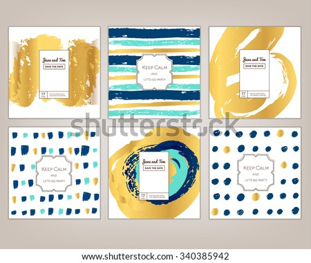 hand drawn vector illustration, ink design, card template for invitation, greeting, party,sail, wedding, save date, Christmas. Logo collection and identity elements - stock vector