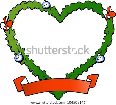 Hand-drawn Vector illustration of an christmas decoration fraim - stock vector