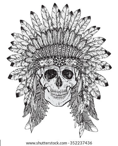 Conceptual Polygonal Human Skull Native American Stock ...