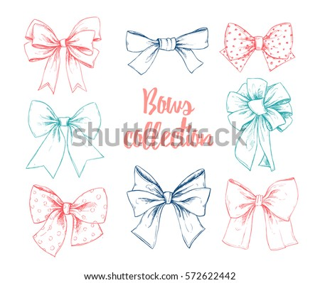 Hand drawn vector illustrations different types stock vector hand drawn vector illustrations different types of bows perfect for invitations greeting cards m4hsunfo