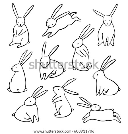 how to draw a easter bunny left face