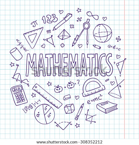Hand Drawn Vector School Set Mathematics Can Be Used For Your Design