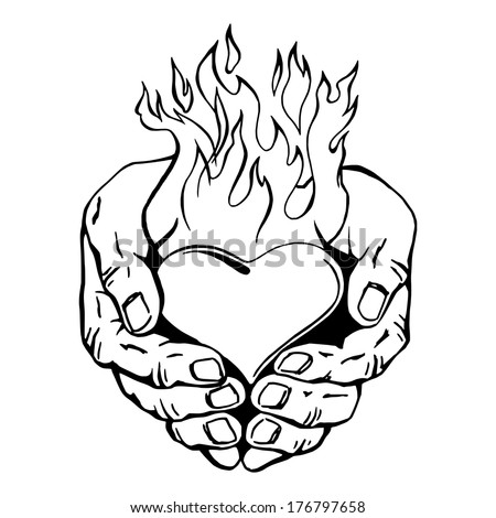 sketched heart coloring pages - photo#8